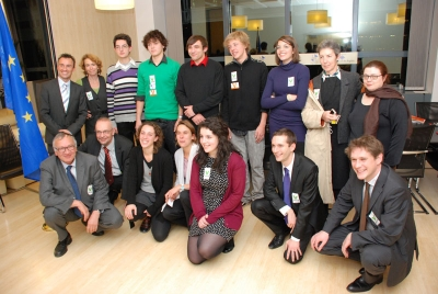 Delivery of International Charter of responsabilities to the European Institutions, Brussels, November 2011